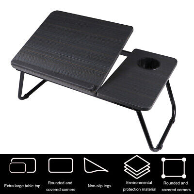 £14.39 • Buy Foldable Laptop Table Portable Lap Tray Desk Notebook Sofa Bed Stand Adjustable