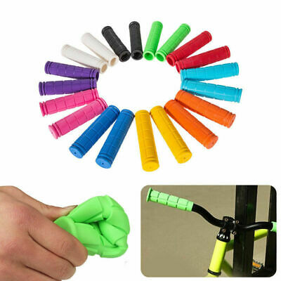 AU12.99 • Buy Silicone Soft BMX MTB Cycle Road Mountain Bike Scooter Bicycle Handle Bar Grips
