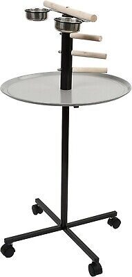 Parrot Play Stand On Wheels, Rainforest Forest T Bar Play Stand 3051 • 79.99£