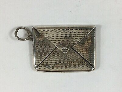 Antique Sterling Silver Envelope Shaped Stamp Case / Box 3cm In Width 4.4g  • 69£
