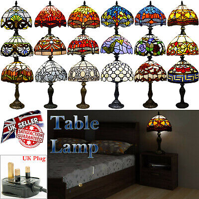 Tiffany Stunning Quality Style Hand Crafted Glass 10  Table/Desk/Bedside Lamps • 48.49£