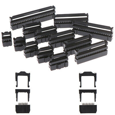 10x 6/8/10/12/14-50Pin IDC Socket Plug Ribbon Cable Connector 2.54mm Pitch • 5.85£