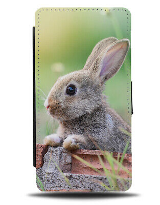 Easter Bunny Photograph Flip Wallet Phone Case Rabbit Ears Nature Grey Gift B424 • 11.99£