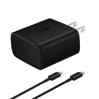AU28.08 • Buy OEM 45W USB-C Super Fast Charging Wall Charger Cable For Samsung S20 Note 10+