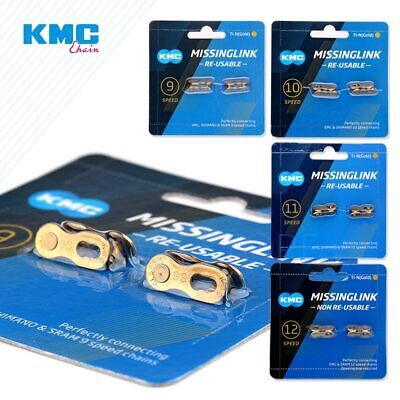 AU10.63 • Buy 2 Pairs KMC Bicycle Chain Missing Link 6/12 Speed Reusable Chain Magic Clasp