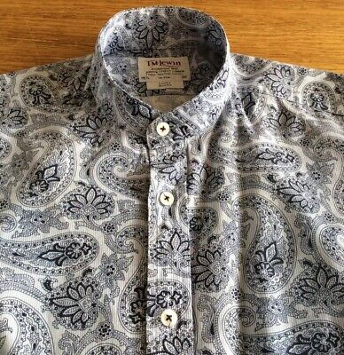 Mens Super Paisley Grandad Shirt By T M Lewin.          15.5.  Collar.  M • 4.99£