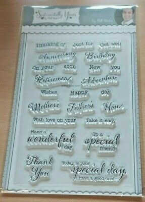 Sentimentally Yours A6 Sentiments Clear Stamp Set - Father Mother Birthday Home • 7£