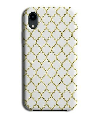 White And Gold Ceramic Mosaic Tiles Print Phone Case Cover Tile Picture F714  • 9.99£