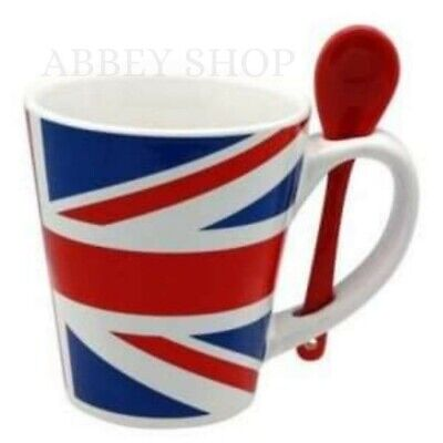 Union Jack Mug With Spoon, London Souvenirs The Best Gifts • 8.50£
