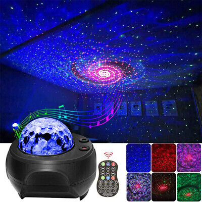 Projector Light LED Galaxy Starry Night Lamp StarOcean Wave Projection Xmas Gift • 20.89£