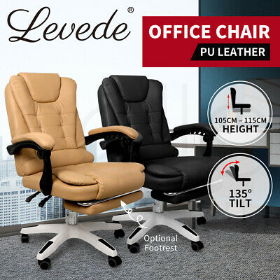 AU159.99 • Buy Gaming Chair Office Computer Seat Racing PU Leather Executive Footrest Racer