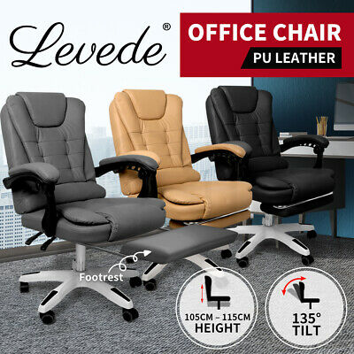 AU139.99 • Buy Gaming Chair Office Computer Seat Racing PU Leather Executive Footrest Racer