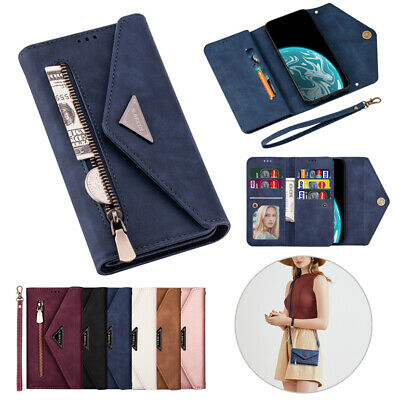 $ CDN10.57 • Buy Zipper Flip Case Strap Leather Wallet Cover For Samsung Galaxy Note10+/20/9/8