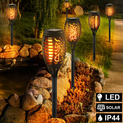 4 Pack 33 LED Solar Torch LED Flickering Light Dancing Flame Garden Lamp • 12.80£