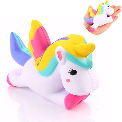 AU3.75 • Buy 4.5  Jumbo Slow Rising Squishies Unicorn Kawaii Scented Soft Squishy Charms PQ