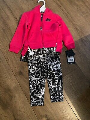 Nike Toddlers/ Baby Track Top And Legging Pink /black 18 Months 80-86 • 24.95£