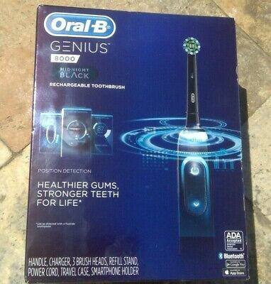 AU166.12 • Buy 🌟🎈 Oral-B GENIUS 8000 Rechargeable Toothbrush Midnight Black D701.535.6XC 🌟