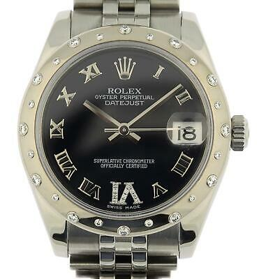 $ CDN12000.58 • Buy Rolex Midsize Datejust 178344 Watch 31mm Factory Diamonds Box Papers RSC Service