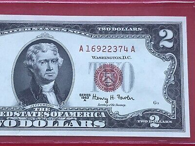 $ CDN30.98 • Buy Wow 1963A $2 TWO DOLLAR BILL RED SEAL ,UNCIRCULATED