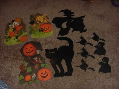 $ CDN27.74 • Buy VINTAGE LOT OF 11 HALLOWEEN DIE CUT WALL DECORATIONS 1980s 90s UNBRANDED