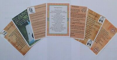 Native American Indian Laminated A6 Prayer Saying Blessing Pack Of 7 • 10£
