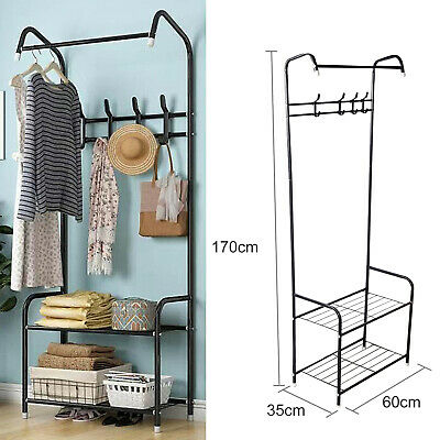 Heavy Duty Metal Clothes Rail Rack Storage Garment Shelf Hanging Display Stand • 19.99£