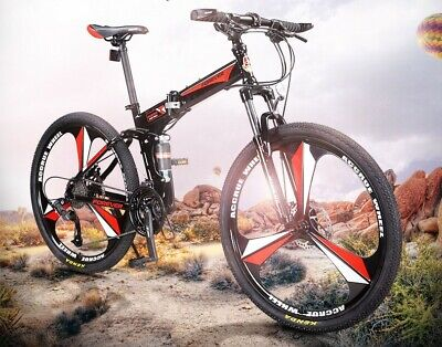 AU550 • Buy ########2020 Foldable Mountain Bike 27 Speed Dual Suspension####################