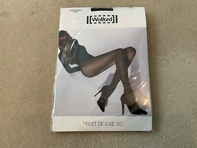 Wolford Velvet De Luxe Tights 50 Black - Medium • 19£