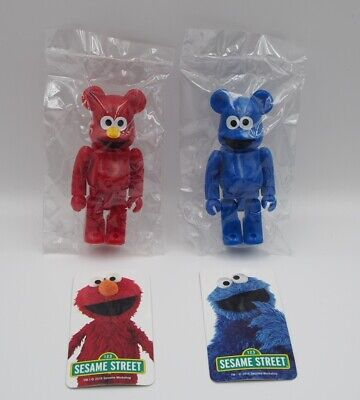 $85.74 • Buy Bearbrick 32 Be Rbrick Series Cute Sesame Street Elmo Cookie Monster Front And