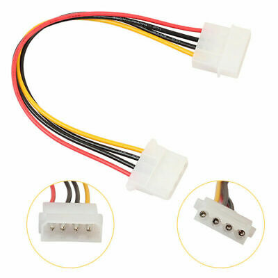 IDE Molex Extension Cable 4Pin Male To Female PSU Internal PC Power Supply (636) • 2.49£