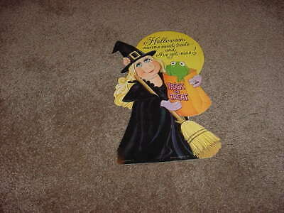 $ CDN50.86 • Buy Vintage Hallmark Halloween Die Cut Wall Decoration 1983 Muppets Miss Piggy Rare