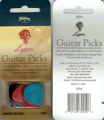 $ CDN6.50 • Buy 🎸 Guitar Picks - - 12 Per Pack 🎸 4 Light  🎸4 Medium   🎸4 Heavy Gage
