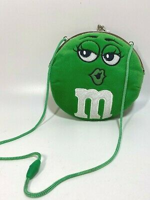 $16.99 • Buy M&Ms Purse Green Plush M And M Candy Frame Closure So Cute!