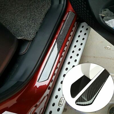 $39.99 • Buy Parts Accessories Carbon Fiber 5D Stickers Car Door Sill Protector 4x Universal