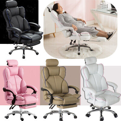 AU149.88 • Buy Executive Office Chair Racing Gaming Computer Chair Swivel Recliner PU Leather