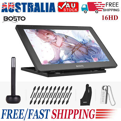 AU328.99 • Buy BOSTO 16HD IPS Graphics Drawing Tablet Monitor 1920*1080 8192 Pressure Level AU