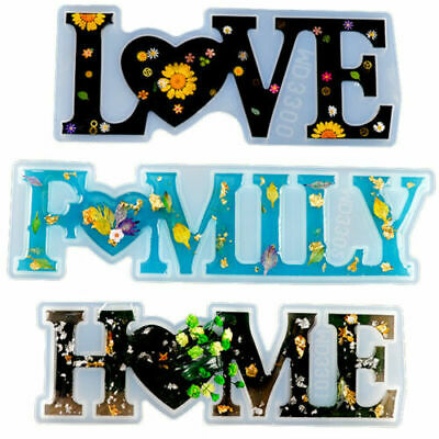 £4.99 • Buy Silicone LOVE/HOME/FAMILY Resin Casting Mold Making Epoxy Mould Craft DIY Tool