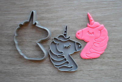 AU11.49 • Buy Unicorn Face Cookie Fondant Cutter & Stamp Fondant