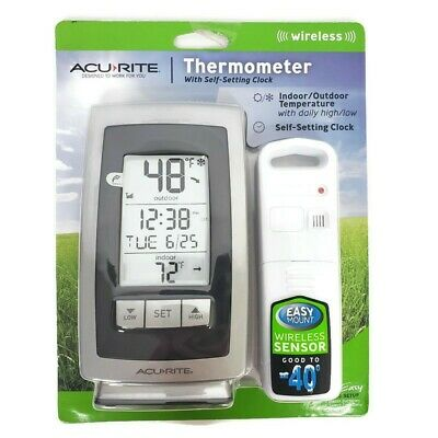 $30 • Buy Acurite Wireless Thermometer  Indoor & Outdoor Temperature Self Setting Clock