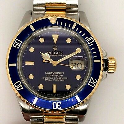 $ CDN12022.24 • Buy Rolex Submariner Blue Men's Watch - 16613