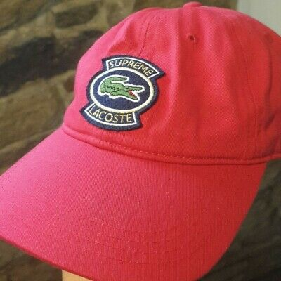 $ CDN130.64 • Buy Supreme Lacoste SS18 Twill 6-Panel Red Cap
