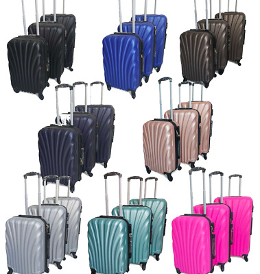 NEW Hard Shell Expandable Suitcase 4 Wheel Lightweight Luggage Travel Cabin • 23.99£