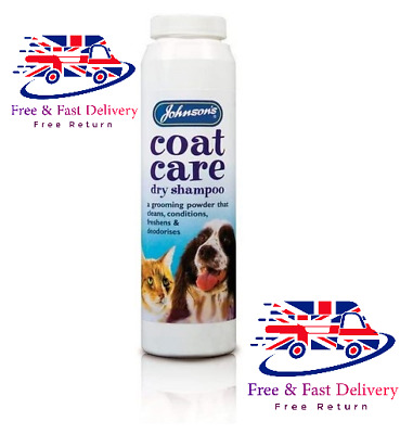 Shampoo Johnsons Coat Care Dry For Cats & Dogs Powder Easy To Use Freshens 85G • 17.99£