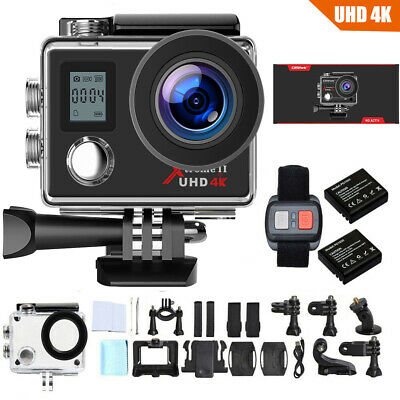 Action Camera Campark 4K/30fps Wifi Sport Waterproof Cam Underwater DV Camcoder • 33.47£