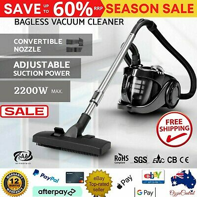 AU99.98 • Buy Bagless Cyclonic Cyclone Vaccum Cleaner 2800W Powerful Filter HEPA Vacuum Black