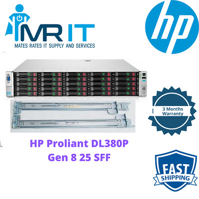 AU1399 • Buy HP Proliant DL380P G8 2 X E5-2660@ 2.20GHz 128 GB RAM 25 SFF Rails Included