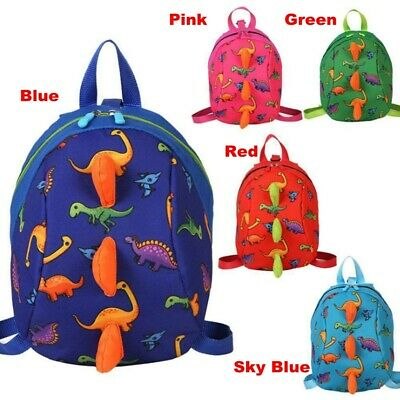 Cartoon Baby Toddler Kids Dinosaur Safety Harness Strap Bag Backpack With Reins • 6.04£