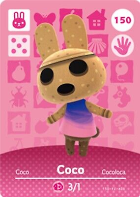 AU5.50 • Buy Animal Crossing Amiibo Card Villager Coco Ntag215 NFC Card