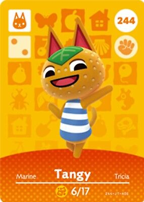 AU5.50 • Buy Animal Crossing Amiibo Card Villager Tangy Ntag215 NFC Card