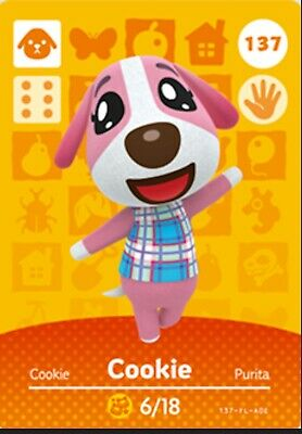 AU5.50 • Buy Animal Crossing Amiibo Card Villager Cookie Ntag215 NFC Card